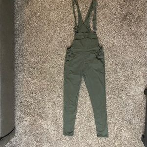 olive/army green low-overalls (L) skinny leg